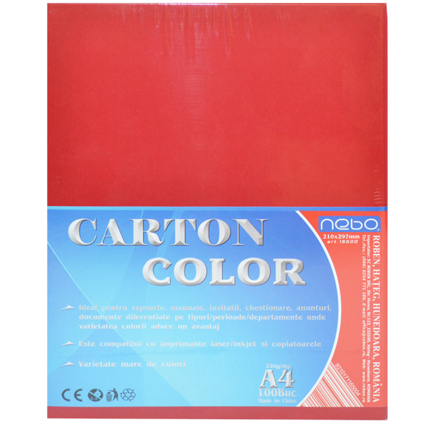 Carton color A4 250g Set 100 - NEBO