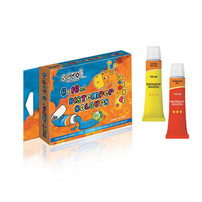 Tempera 16 ml, 6 culori/set - S-COOL