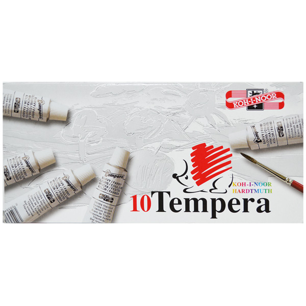 Tempera 16 ml, argintiu, 10 buc/set - Koh-I-Noor