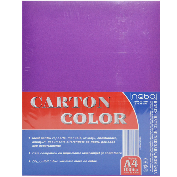 Carton color A4 180g Set 100 - NEBO